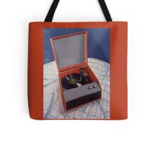 R is for Record Player Tote Bag