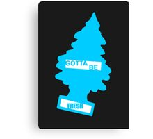 Fresh (Braj Blue) Canvas Print