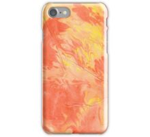 Wrinkled Fire - Paper Marbling Pattern iPhone Case/Skin