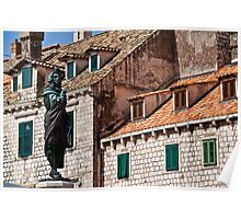 Roofs and Windows. Dubrovnik. Poster