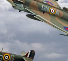 Spitfire and Typhoon Battle of Britain 75th Anniversary Sticker
