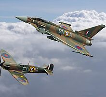 Spitfire and Typhoon Battle of Britain 75th Anniversary by Colin  Williams Photography