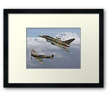 Spitfire and Typhoon Battle of Britain 75th Anniversary Framed Print