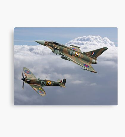 Spitfire and Typhoon Battle of Britain 75th Anniversary Canvas Print