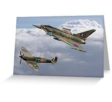Spitfire and Typhoon Battle of Britain 75th Anniversary Greeting Card
