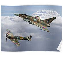 Spitfire and Typhoon Battle of Britain 75th Anniversary Poster