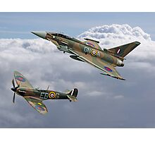 Spitfire and Typhoon Battle of Britain 75th Anniversary Photographic Print