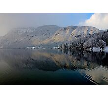 Wintery reflections of Bohinj Photographic Print