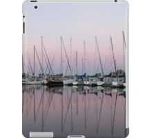 Marina in Pink - Peaceful Boat Reflections iPad Case/Skin