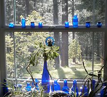 Blue Bottle window by LisasPics