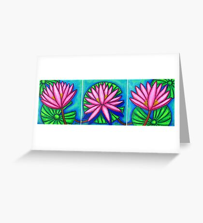 Three Pink Gems  Greeting Card