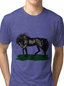 Ebony .. black stallion Tri-blend T-Shirt