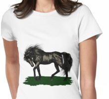 Ebony .. black stallion Womens Fitted T-Shirt