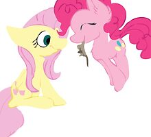 Pinkie Pie and Fluttershy by mousebanks