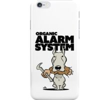 Pitbull alarm system cartoon iPhone Case/Skin