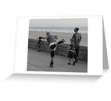 Roller blading for all ages Greeting Card