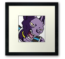 Beerus Pop Art DBZ Framed Print