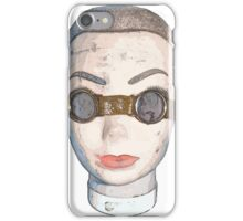head with goggles  iPhone Case/Skin