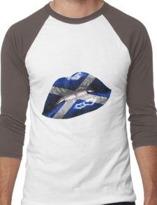 Scottish Flag Graphic Design Men's Baseball ¾ T-Shirt
