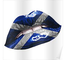 Scottish Flag Graphic Design Poster