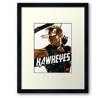 HAWKEYES Framed Print