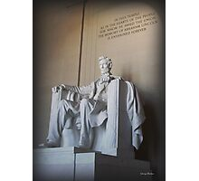 Lincoln Memorial  01 Photographic Print