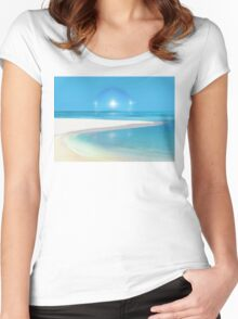 Postcard from Crane Bay in Barbados, Caribbean Women's Fitted Scoop T-Shirt