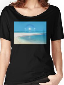 Postcard from Crane Bay in Barbados, Caribbean Women's Relaxed Fit T-Shirt