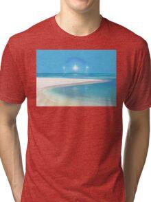 Postcard from Crane Bay in Barbados, Caribbean Tri-blend T-Shirt