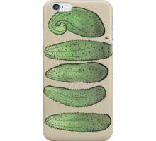 Cucumbers on brown iPhone Case/Skin