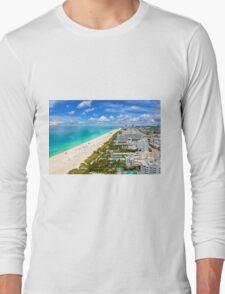 Postcard from South Beach, Miami, Florida Long Sleeve T-Shirt