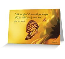 Be Not Afraid, Butterfly Flower, religious Greeting Card