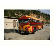 The Artistic Inspired Bus Art Print