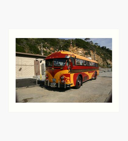 The Artistic Inspired Bus Art Print