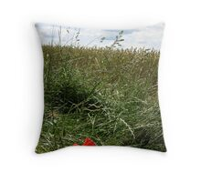 Poppy - Medway Valley Walk and North Downs Way Throw Pillow