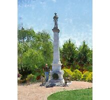Confederate Monument in Franklin, NC Photographic Print