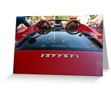 Ferrari Emblem - Super Car Sunday Greeting Card