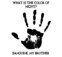 Sanguine My Brother Photographic Print