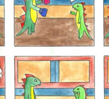 Dinah the Aspie Dinosaur and the Difficult Decision Sticker