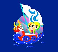 Link and Zelda at Sea by GeekyAngel