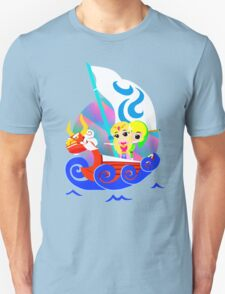 Link and Zelda at Sea Unisex T-Shirt