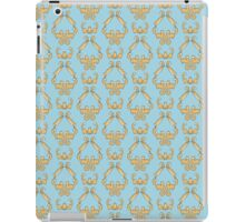 Cat damask blue iPad Case/Skin