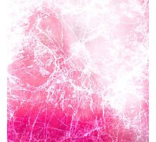Pink Abstract Cracked Ice Photographic Print