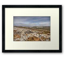 Burren landscape view Framed Print