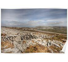 Burren landscape view Poster