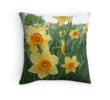 Narcissus Joy Throw Pillow