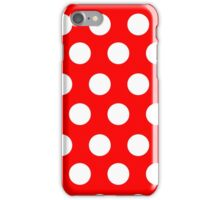 POLKA DOT-RED iPhone Case/Skin