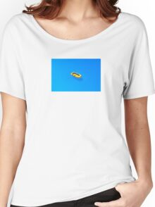 Yellow boat in Saint Tropez Bay, Southern France Women's Relaxed Fit T-Shirt