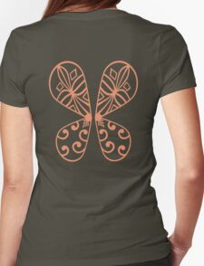 Fairy Wings - Orange Womens Fitted T-Shirt