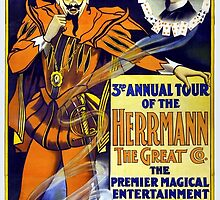 Herrmann the Great 1898 Vintage Poster Restored by Carsten Reisinger